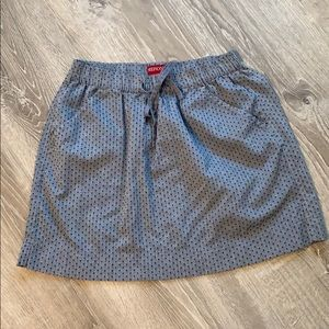 Merona chambray polka dot skirt